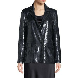 Joie Diandra Sequin Blazer Black Color Size 0 NEW